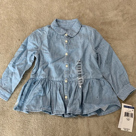 Ralph Lauren Other - Ralph Lauren denim button up shirt. 24 months
